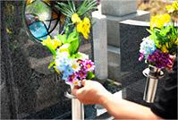 花を供える